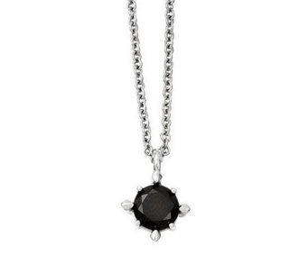 Stainless Steel Choice of Simulated Diamond Pendant - J312920