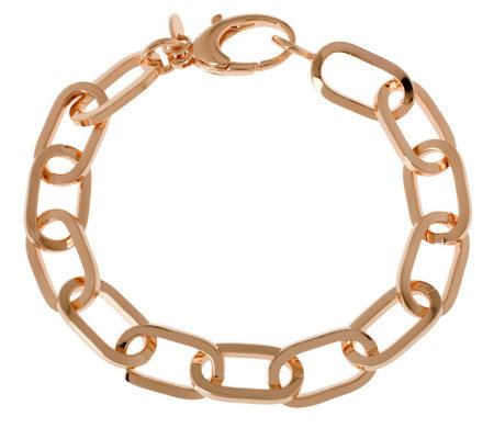 "Bronze 8"" Polished Oval Link Bracelet by BronzoItalia"