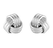 Sterling Polished Love Knot Stud Earrings - J314620
