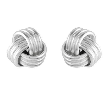 Sterling Polished Love Knot Stud Earrings