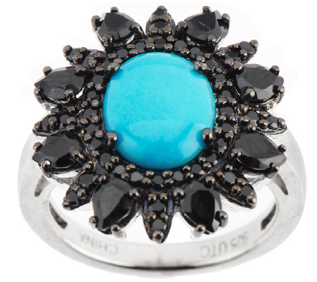 """As Is""Graziela Gems Sleeping Beauty Turquoise Sterling Ring"