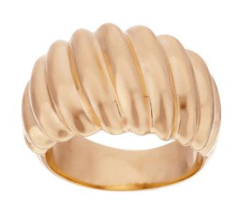 """As Is"" Oro Nuovo Bold Polished Ribbed Twist Ring 14K - J322120"