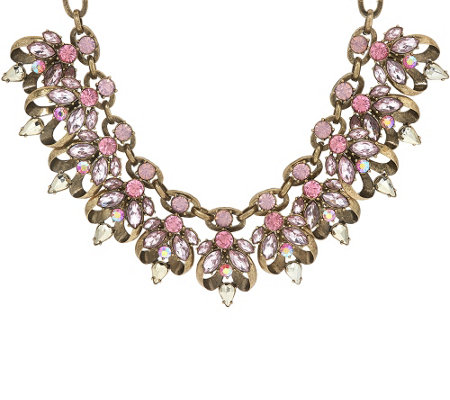 "Joan Rivers Crystal Couture 19"" Statement Necklace w/ 3"" Extender"