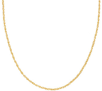 "Vicenza Gold 36"" Twisted Singapore Necklace 14K, 2.9g - J323120"