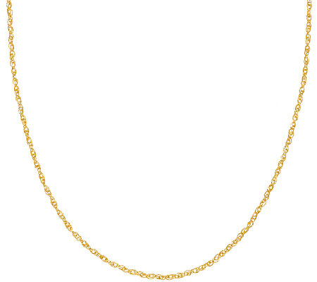 "Vicenza Gold 36"" Twisted Singapore Necklace 14K, 2.9g"