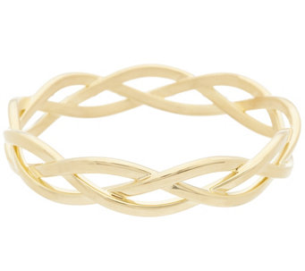 Oro Nuovo Polished Braided Round Slip-on Bangle Bracelet, 14K - J324720
