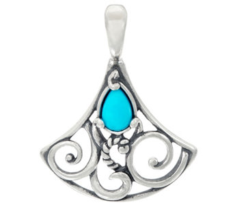 Carolyn Pollack Sterling Silver Sleeping Beauty Turquoise Enhancer - J328220