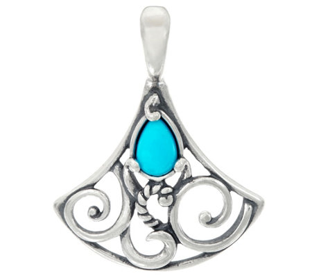 Carolyn Pollack Sterling Silver Sleeping Beauty Turquoise Enhancer