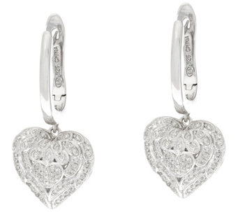 Angel Wing Heart Diamond Earrings, 1/4 cttw, by Affinity - J330620