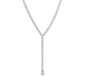 "Diamonique 10.60 cttw 17"" Tennis Y-necklace Sterling - J330820"