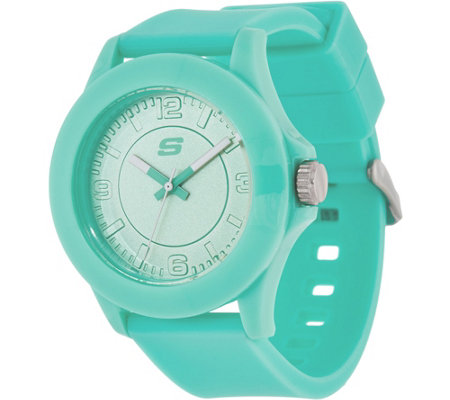 Skechers Women's Mint Silicone Strap Watch - Rosencrans