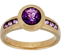Semi-Precious Gemstone Solitaire Ring, 14K Gold 1.35 cttw - J350220