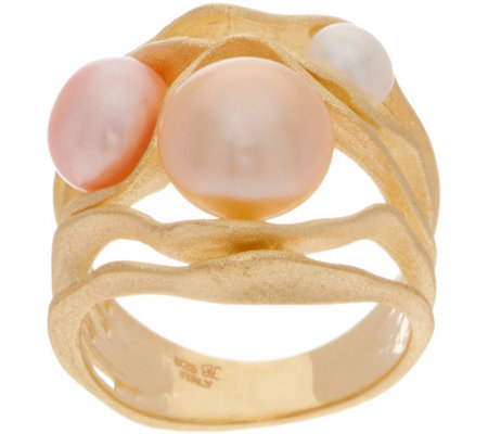 Honora Cultured Pearl Multi-color Ring, Sterling Silver