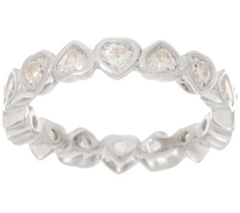 Diamonique 1 70 Cts Heart Eternity Band Sterling J353320