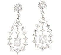 Diamonique Royal Collection Chandelier Earrings, Sterl - J356120