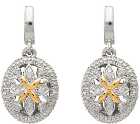 Sterling & 14K Diamond Accent Earrings