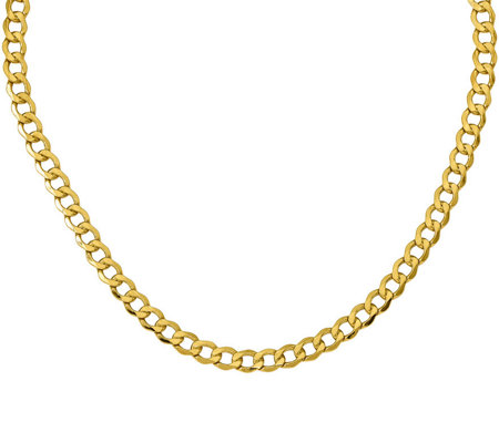 "14K 20"" Curb Link Necklace, 15.5g"