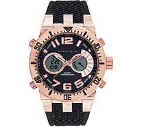 Sean John Men's Analog Digital Rosetone Multi-Function Watch - J380820