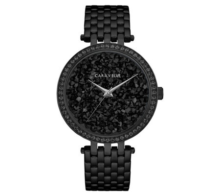 Caravelle Women's Stainless Crystal Rock Bracelet Watch