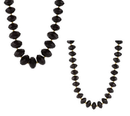 Joan Rivers Set of 2 Faceted Bead Necklaces