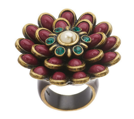 Fern Mallis Cabochon Flower Ring