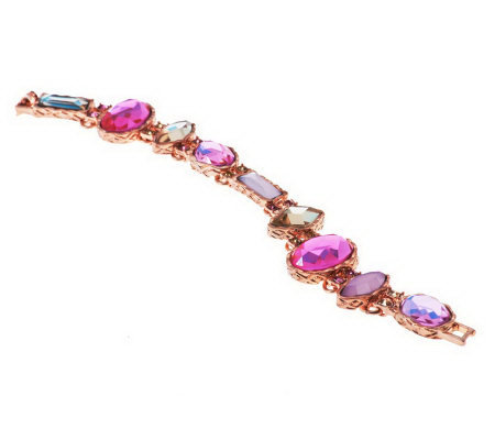 Faceted Multi-Colored Crystal Bracelet