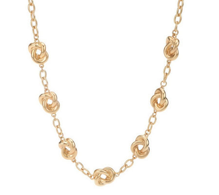"Linea by Louis Dell'Olio 18"" Love Knot Station Necklace"