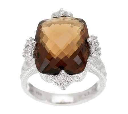 Judith Ripka Sterling Ginger Quartz Ring