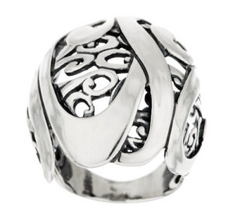 Carolyn Pollack Sterling Signature Domed Scroll Ring - J282921