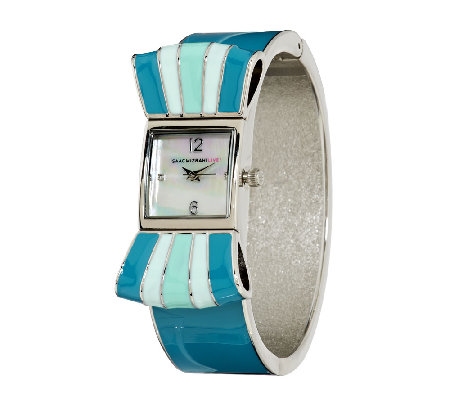 Isaac Mizrahi Live! Ombre Bow Cuff Watch