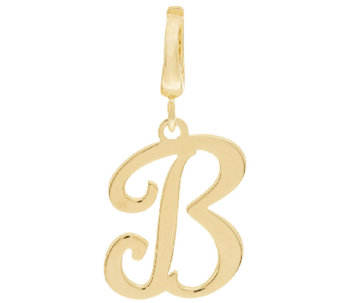 Yellow Bronze Polished Script Initial Enhancer by Bronzo Italia - J295921