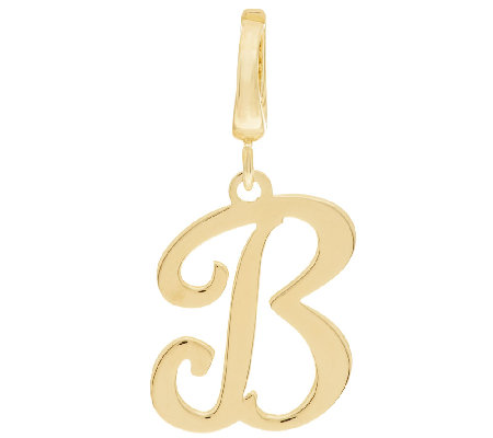 Yellow Bronze Polished Script Initial Enhancer by Bronzo Italia