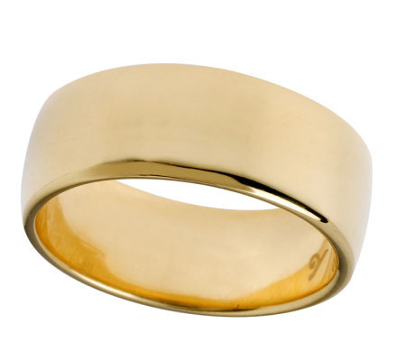 Veronese 18K Clad 7mm Polished Silk Fit Band Ring