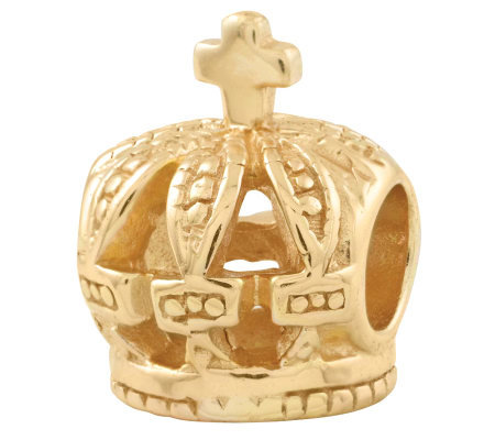 Prerogatives 14K Yellow Gold-Plated Sterling Crown Bead