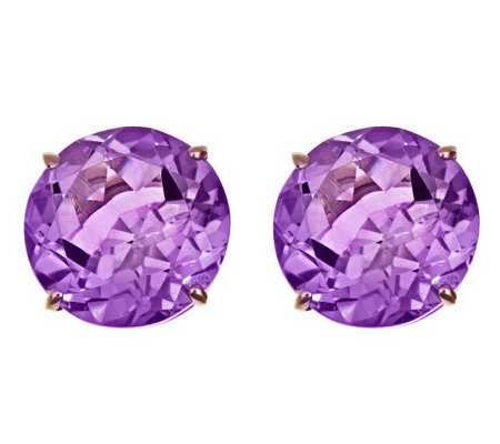 Round 8.00 cttw Citrine or Amethyst StudEarrings, 14K