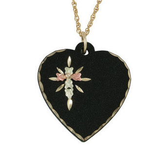 Black Hills Eclipse Heart Pendant, 10K/12K Gold - J304021