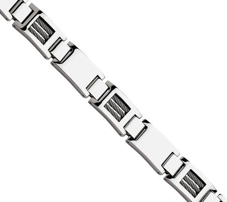"Forza 8-1/2"" Wire Polished Link Bracelet"