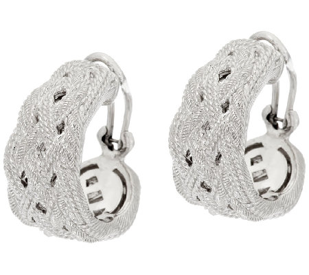 Judith Ripka Sterling Braided Earrings