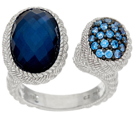 judith ripka sterling pave oval gemstone ring page 1
