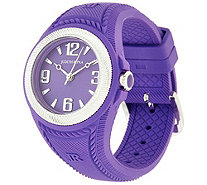 Judith Ripka Stainless Steel Silicone Montauk Watch - J322121