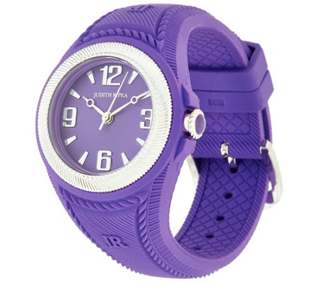 Judith Ripka Stainless Steel Silicone Montauk Watch