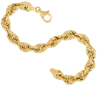 Vicenza Gold Textured Fancy Rope Bracelet, 4.4g - J323221