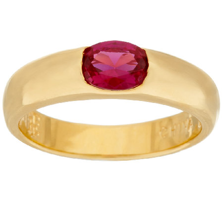 The Elizabeth Taylor Simulated Ruby Stack Gem Ring