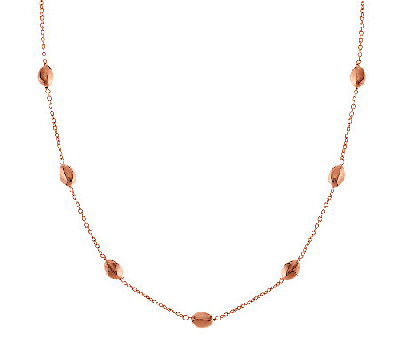 """As Is"" Bronzo Italia 24"" Polished Nugget Station Necklace"