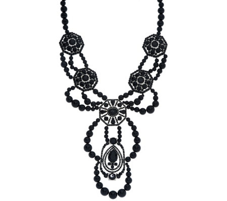 Susan Graver Beaded Statement Necklace