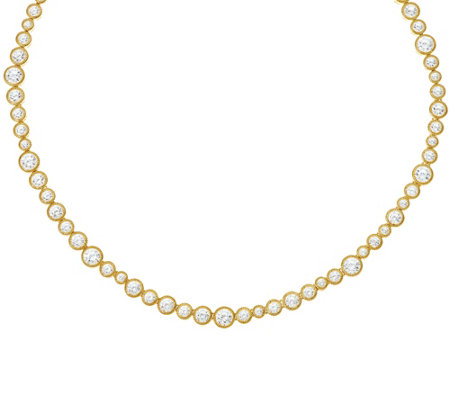 Judith Ripka 14K Clad 118 Facet Diamonique Tennis Necklace