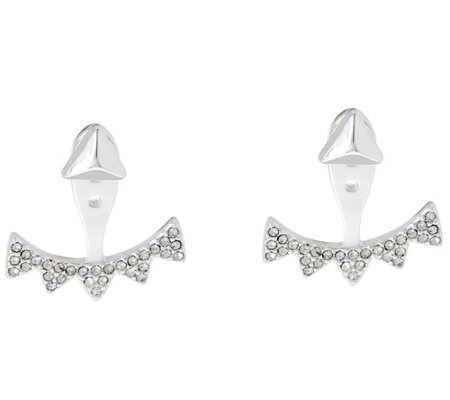 Stella & Dot Pave' Triangle 6-in-1 Ear Jacket Earrings