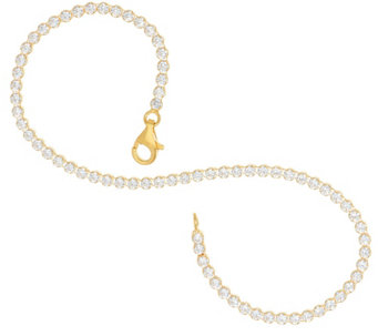 """As Is"" Diamonique Everyday Tennis Bracelet, Ster. or 14K Clad - J330421"