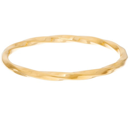 """As Is"" Oro Nuovo Polished Twisted Round Slip-on Bangle Bracelet, 14K"