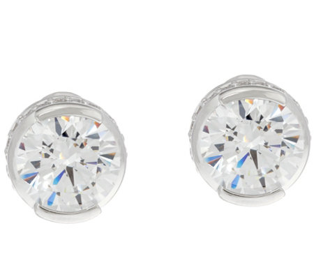 """As Is"" TOVA Diamonique 8.40 cttw Stud Earrings Sterling"